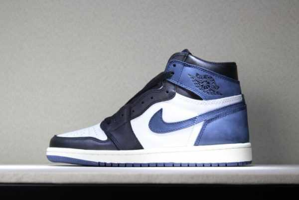 "Air Jordan 1 Retro High OG ""Blue Moon"" Men' s Basketball Shoes 555088-115"