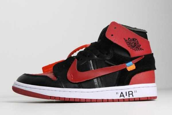 2018 Off-White x Air Jordan 1 ' anned' Black/University Red-White To Buy