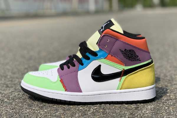 "2020 New Air Jordan 1 Mid ""Multicolor"" CW1140-100 For Sale"