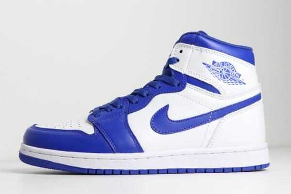 2018 Air Jordan 1 Mid ' yper Royal' White/Hyper Royal 554724-114 For Sale