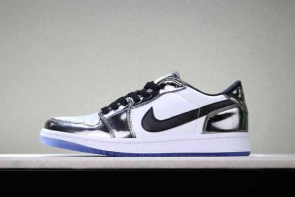Air Jordan 1 Low ' ass The Torch' Chrome/White-Turbo Green-Black Discount Sale