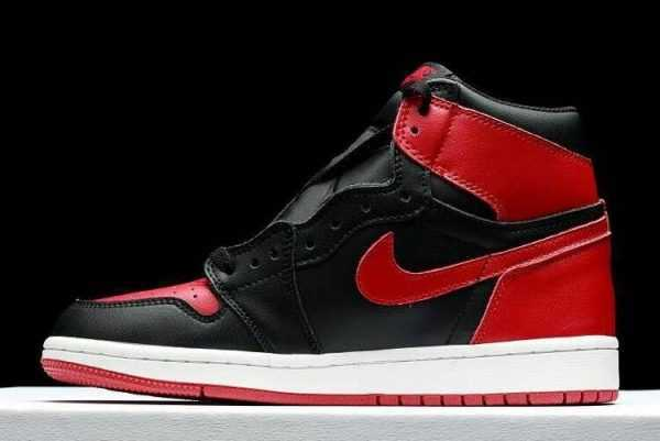 Air Jordan 1 High OG ' anned' Fleece Lined Black-Varsity Red-White Sneakers