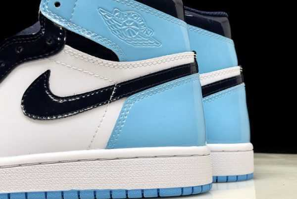 Air Jordan 1 Retro High OG ' NC Patent' Obsidian/Blue Chill-White CD0461-401