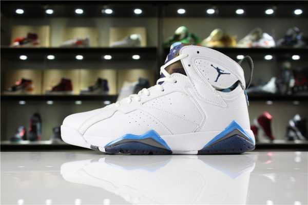"New Air Jordan 7 Retro ""French Blue"" White/French Blue-University Blue-Flint Grey 304775-107"