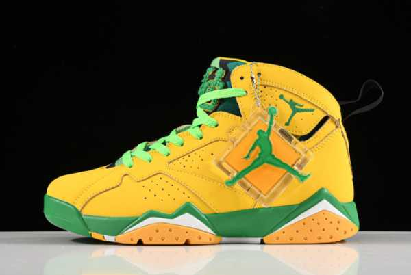 2020 New Air Jordan 7 Oregon Ducks PE AT3375-300 For Sale