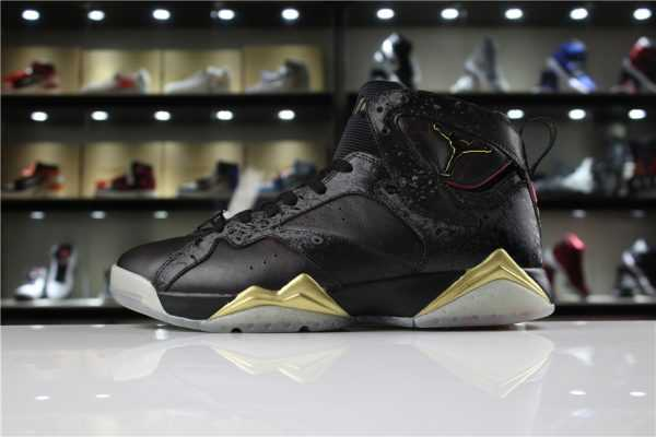 "Cheap Mens Air Jordan 7 ""Doernbecher"" Black Gold For Sale"