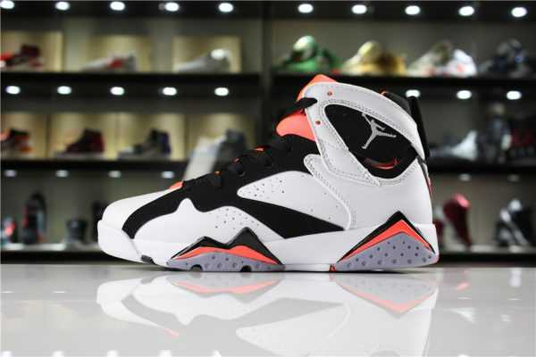 "Air Jordan 7 GS ""Hot Lava"" White/Black-Hot Lava 442960-106"